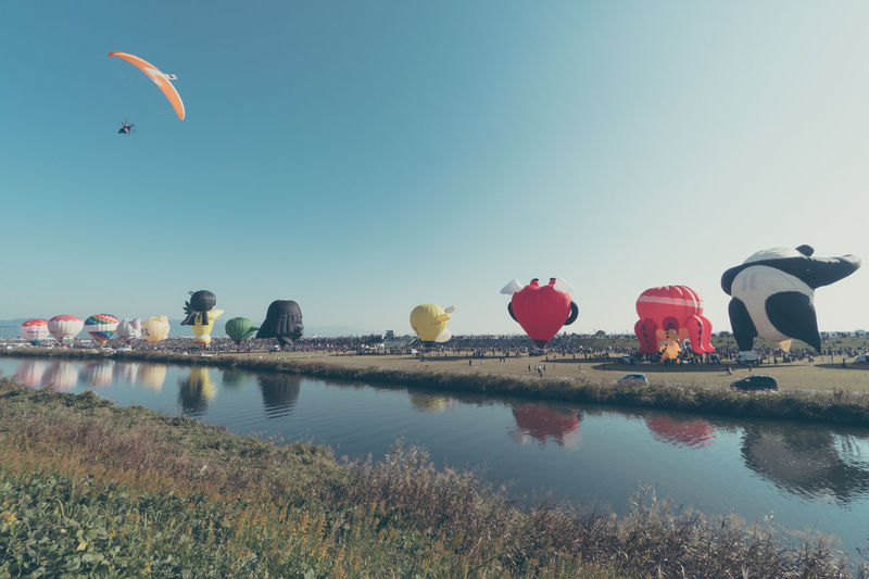 FESSPHOTO Saga Balloon Clear Sky Day Festival Nature No People Outdoors Reflection Sky Water