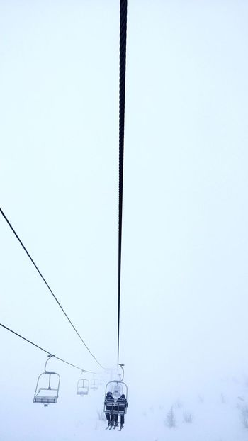 Misty wire. Mist Misty Winter Time Ski Descent Hanging Winter Outdoors Cable Snow Cold Temperature Day Nature Ski Lift Sky