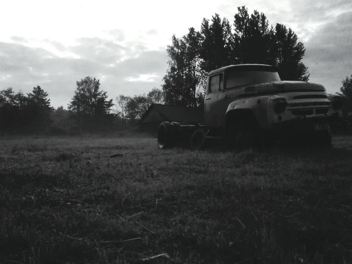 Russia Black & White Huawei Shots Gaz Night Rusty Autos Russian Truck Summer