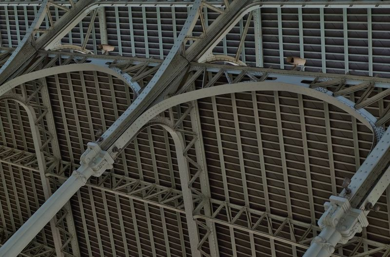 Close up of metal structure