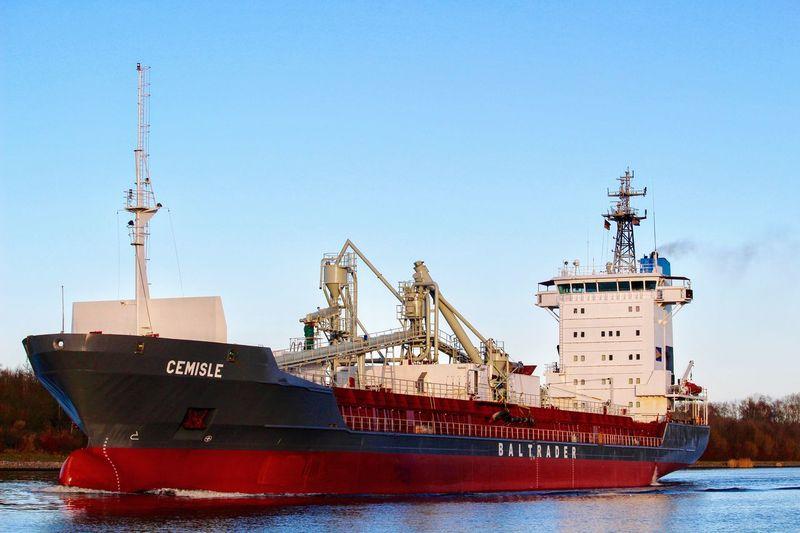 Im NOK Nordostseekanal Schiff Frachtschiff Frachter