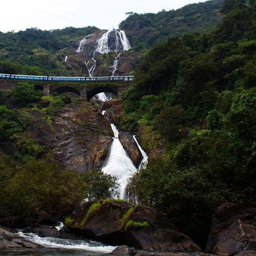 Sandypics90 Doodhsagar Train Bridge Tunnel Water Waterfall Waterfalls Nature Natural Random_pic Rock The Week On Eyem