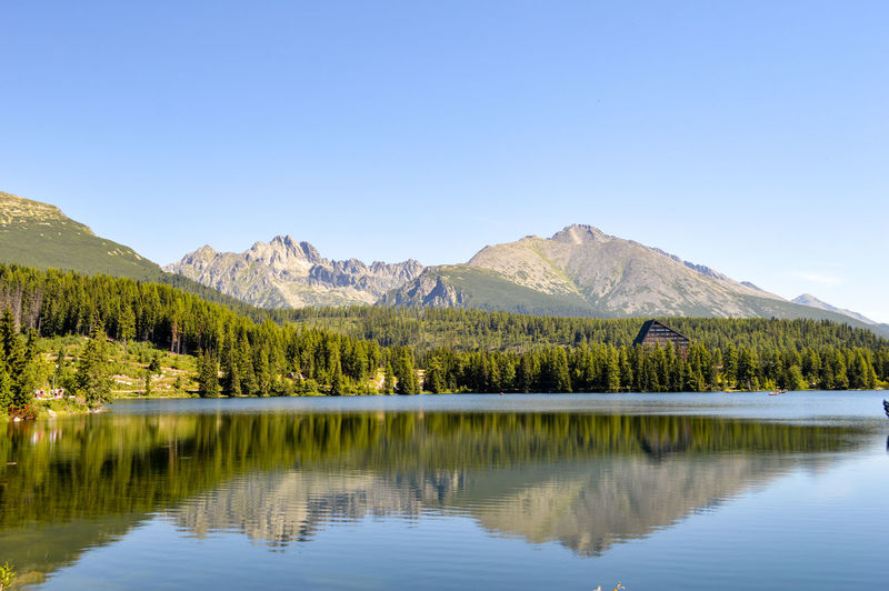 This is Slovakia / Štrbské pleso Lake Hidden Gems  Slovakia Nature Beauty In Nature Nature Photography Water Water Reflections Reflections Mountains Glacier Leisure Activity Beautiful Day Peace And Quiet Scenics Tranquility Tranquil Scene Travel Destinations Outdoors TheWeekOnEyeEM Non-urban Scene Landscape Blue Sky Home Is Where The Art Is Color Of Life Eyeemphoto The Great Outdoors - 2017 EyeEm Awards