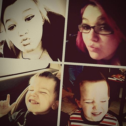 Mother & Son TheRealHer❤ One Of A Kind❤ Happy :) 😍happy Mommy Adams Mommy My Amazing Son Adam😍💚💜💙