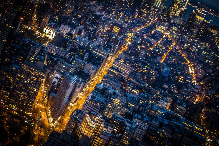 Flat Iron Building New York Nightphotography Concrete Jungle Night Photography Skyline NYC NYC Photography Get Up High To Look Down Low