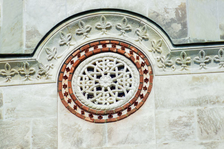 St George church, Oplenac, Topola, Serbia St George Topola, Serbia Architecture Art And Craft Building Building Exterior Built Structure Circle Close-up Creativity Day Design Floral Pattern Geometric Shape History No People Oplenac Ornate Outdoors Pattern Shape The Past Wall - Building Feature Window