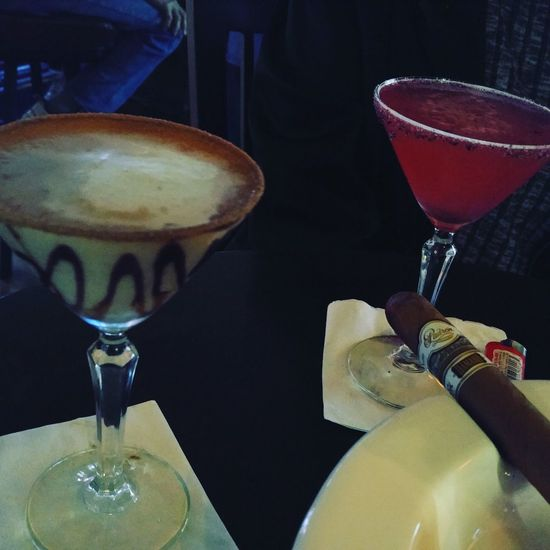 Hanging Out Lounge Enjoying Life Cigarsociety Martini Local Bar Friends Cellphone Photography