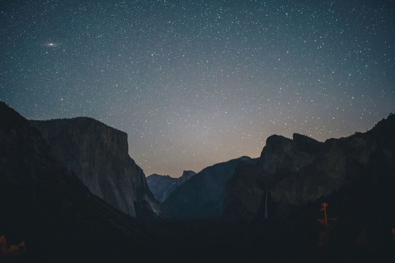 A sky full of stars ✨ Outdoors Yosemite National Park Star - Space Astronomy Space Night Sky Mountain The Great Outdoors - 2018 EyeEm Awards Scenics - Nature Galaxy Beauty In Nature Mountain Range Star Field Star Tranquil Scene Tranquility Nature Constellation Milky Way No People My Best Photo