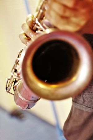 Saxophonelife Saxophone Player Indoors  Close-up Musical Instrument Jazz Music Real People Lifestyles