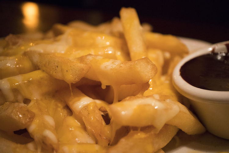 Aussie cheese fries Aussie Bokeh Bokeh Photography Cheese Fries Chocolate Sauce Close-up Food Food And Drink Indoors  Macro Macro Photography No People Outback Steakhouse Ready-to-eat