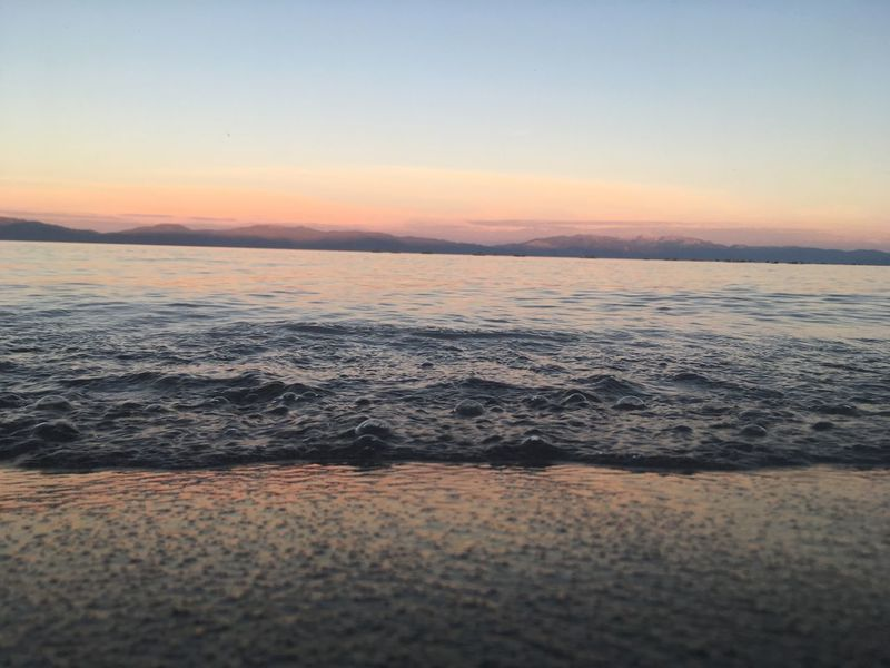 Tahoe Sky Sunset Water Scenics - Nature Beauty In Nature Sea Tranquility Idyllic Tranquil Scene Beach Horizon Over Water No People Nature