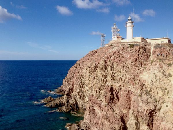 Lighthouse Lighthouse_lovers Lighthouse Tower Sea Cliff Mediterranean  Mediterranean Sea Rocks Cabo De Gata Almería Andalucía Andalusia SPAIN Rutadelosfaros The KIOMI Collection