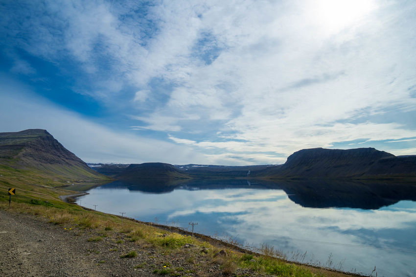Iceland Iceland Trip Iceland Memories Islanda Nord North Iceland West Fjords West Sky Cloud - Sky Water Tranquil Scene Tranquility Beauty In Nature Scenics - Nature Mountain Lake Day Nature Non-urban Scene No People Idyllic Reflection Outdoors Mountain Range Landscape Blue