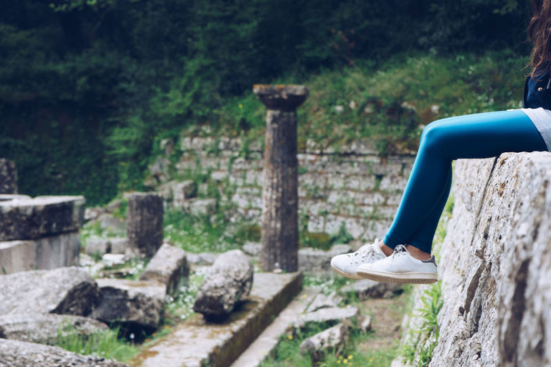 Ancient Architecture Ancient Temple Day EyeEnNewHere Girl Greece Human Body Part Legs Nature One Person Outdoors Young Women