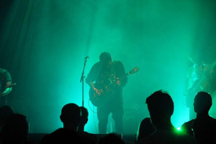 Silhouette Crowd Enjoying Music Concert