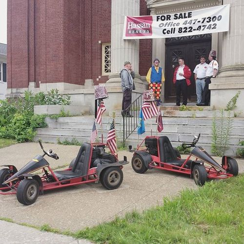 Shriners At Masonictemple in Pittsfield MA preparing for the annual Berkshires July4 Parade