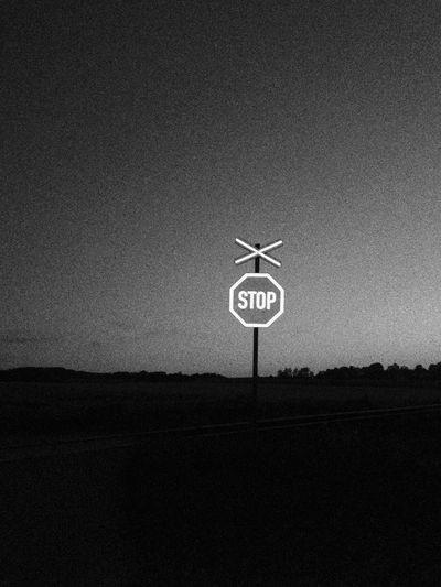 Stop! Blackandwhite Czech Republic Signs
