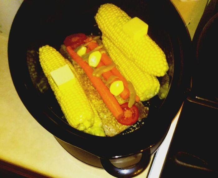 What's For Dinner? Roast Crock Pot Yum Summer Corn First Eyeem Photo Family Food The Essence Of Summer Gotta Eat Share The Meal ShareTheMeal Beautifully Organized Enjoy The New Normal