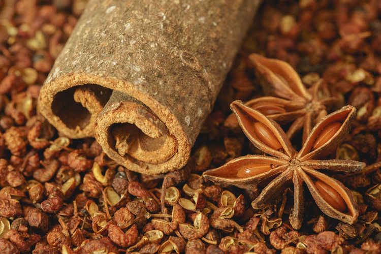 Cinnamon, Star Anise and Sichuan Pepper Cooking Ingredients SiChuan Cuisine Sichuan Sichuan Food Sichuan Pepper Anise Cinnamon Cinnamon Sticks Close-up Food Food And Drink Freshness No People Seasoning Seasonings Spice Spices Star Anise Szechuan Szechuan Pepper