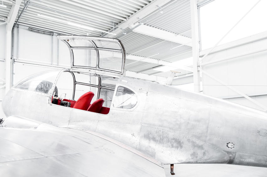 Flugzeugmuseum Aircraft Aircraft Wing Airplane Architecture Built Structure Ceiling Connection Convenience Day Glass - Material Indoors  Industry Low Angle View Metal Mode Of Transportation No People Railing Red Technology Transparent Transportation Travel White Color