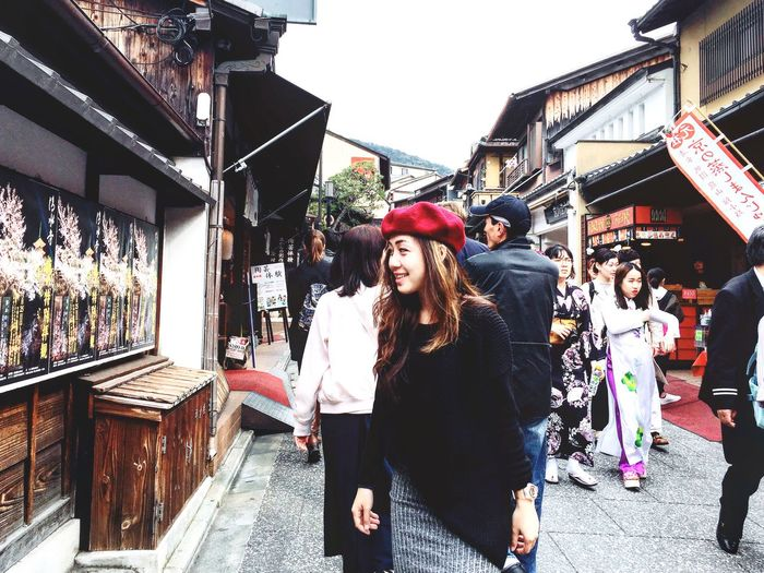 When in Kyoto Outfit Street Moment Treasure Goodtime Wanderlust Kyoto Japan Travel Temple Real People Outdoors Market Young Women Lifestyles Fashion Street Looking At Camera Store City Women Beautiful Woman Architecture Standing Portrait Leisure Activity Day