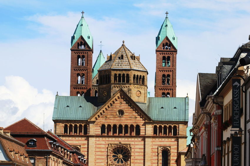 Speyer, Germany Speyerer Dom Architecture Building Exterior Built Structure Cloud - Sky Day History No People Outdoors Religion Spirituality Summer 2013