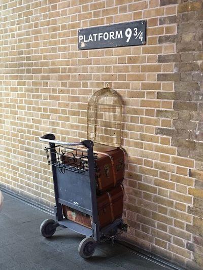 Where's Harry? Kings Cross Kings Cross Station, London. Harrypotter Harry Potter London Wall - Building Feature Brick Wall Platform 9 3/4