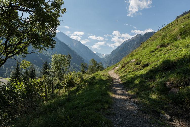 Himmel Hohe Tauern Landschaft Pinzgau Salzburger Land Weg Wolken Gebirge Kaprun Tag Wandern Österreich