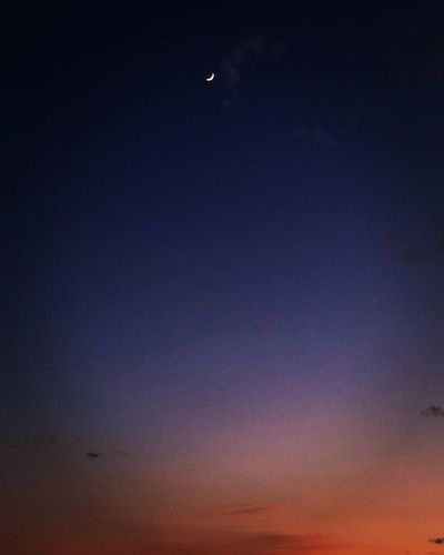 Moon Sky Nature Night Clear Sky Sunset Beauty In Nature Crescent Colors La Luna