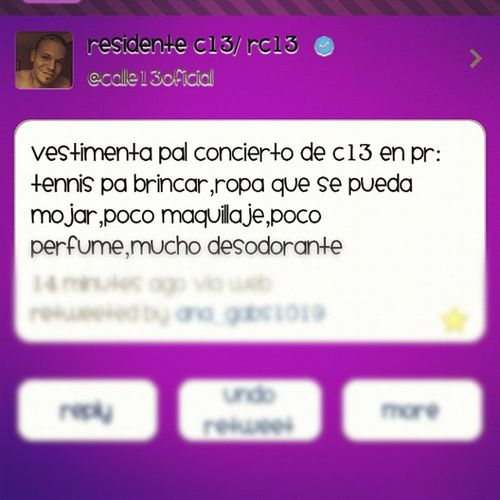 oh my god :O yo quierooo que sea diciembre 15 yaaaaa xD Calle13 Concierto Puertorico Desconocido