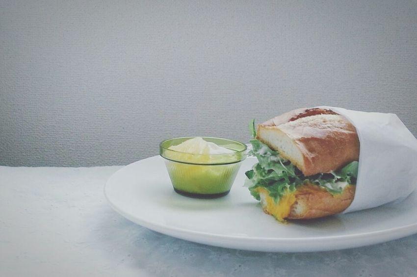 朝ごはんー。 朝ごはん サンドウィッチ Breakfast Morning
