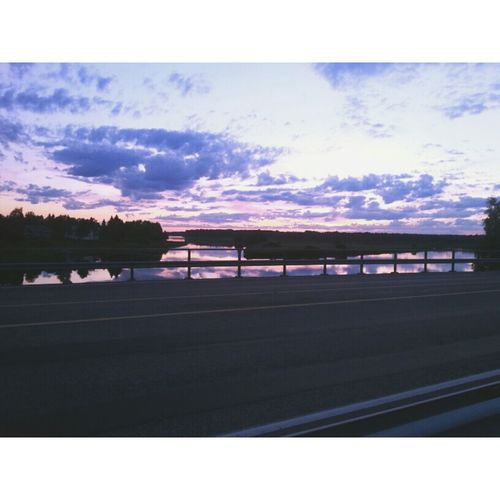 Finland Lapland Sunset Purple