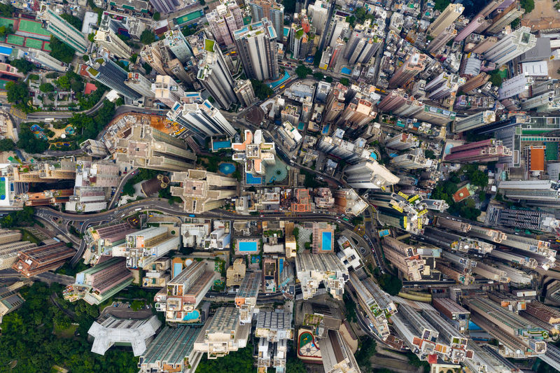 Directly above shot of cityscape