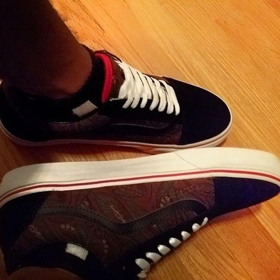 Got my fresh kicks! Customvans