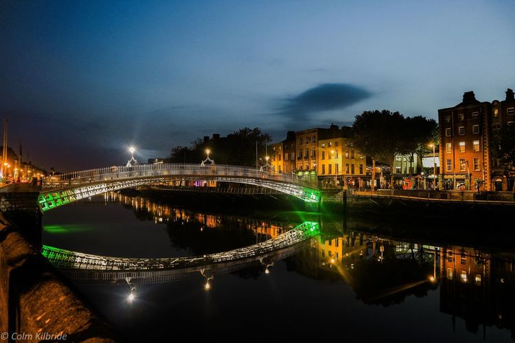 Ha'penny Bridge Dublin Ireland Bridge City City Life Cityscapes City Street EyeEm Best Shots EyeEm Gallery EyeEm EyeEmBestPics Eye4photography  Night Nightphotography Night Lights Night View Reflection Reflection_collection Reflections River Riverside Popular Photos Bridge - Man Made Structure Long Exposure Streetphotography
