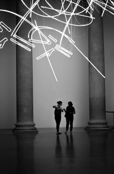 reciprocity Illuminated Two People Real People Men Night The Way Forward Travel Destinations Women Architecture Lifestyles Architectural Column Full Length Standing Togetherness Indoors  Young Adult Tate TateBritain London