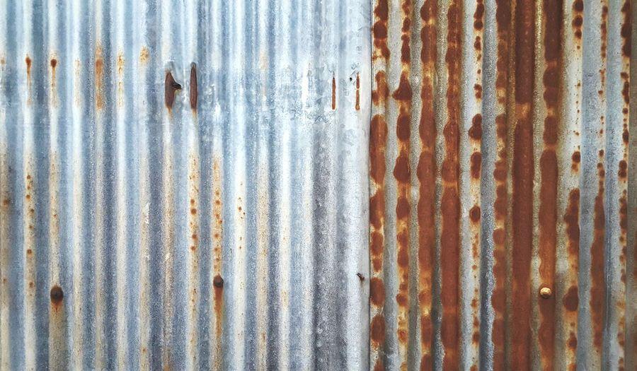 Full Frame Shot Of Rusty Corrugated Iron
