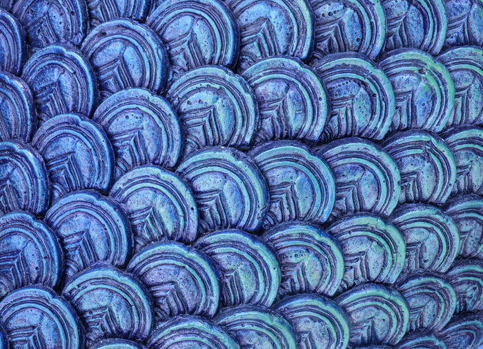 Full frame shot of blue patterns
