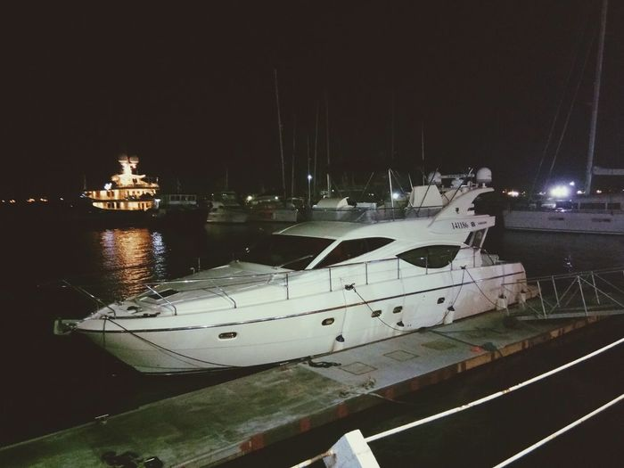 Yactingharbour Yacht Water Outdoors Sea Night Goodplace Goodlife Breeze Mood Romantic Starrynight Harbor First Eyeem Photo
