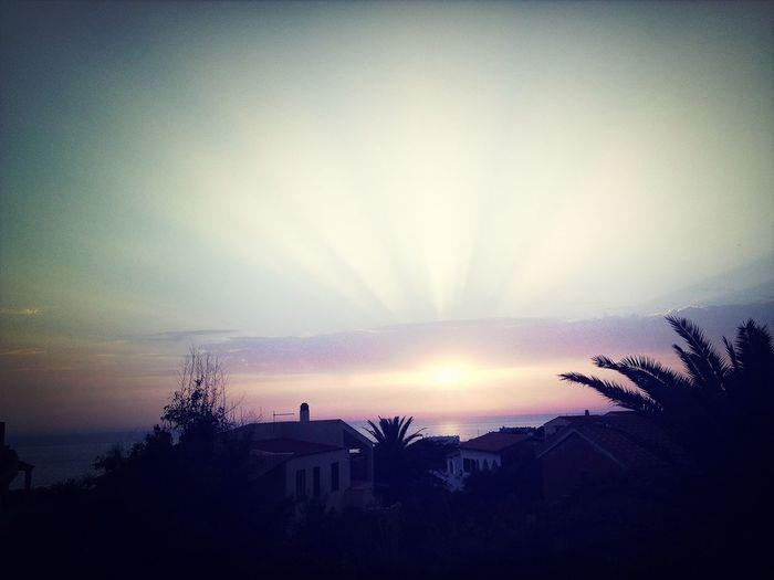 Sunset Sun And Sea Nightphotography