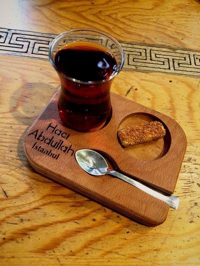 Turkish Tea ☕️ 🇹🇷 Spoon Turkish Tradition Turkish Tea Apple Tea Tea Table Drink Refreshment Wood - Material Food And Drink Indoors  No People Cup Glass Freshness