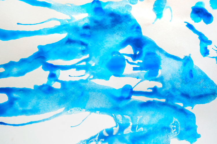 Close-up of blue water splashing