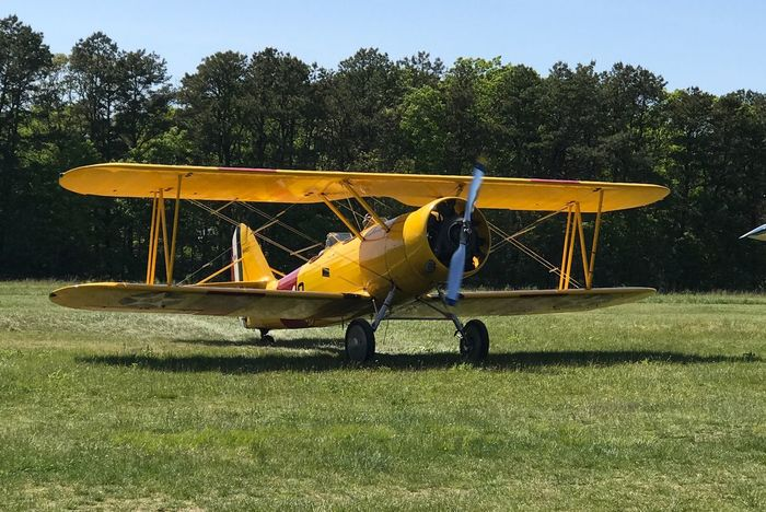Biplane at Bayport Aerodrome, Long Island, NY Bayport Airport Biplane Airplane Bayport Aerodrome