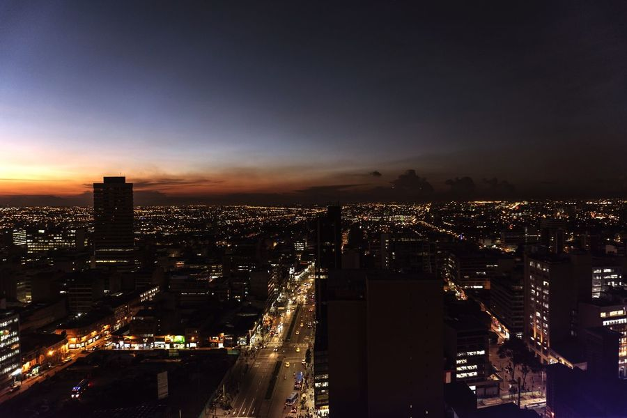 Colour Your Horizn Cityscape Night Skyscraper Urban Skyline City Illuminated Architecture City Life Downtown District Sky Travel Destinations High Angle View No People Outdoors Aerial View Modern