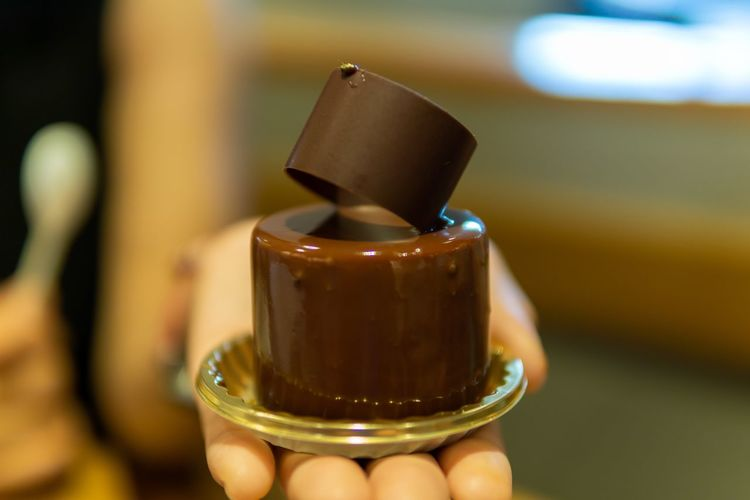Chocolate lover. Chocolate Eating Food And Drink Japan Japanese Food Japanese Style OSAKA Travel Cake Chocolate Cake Close-up Eat Focus On Foreground Food Food Photography Foodphotography Hand Holding Human Hand Sweet Sweet Food Unhealthy Eating