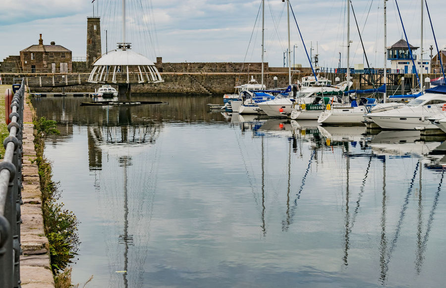 Harbour Reflection Yachts Boats Reflections In The Water Sea And Sky Whitehaven Whitehaven Habour