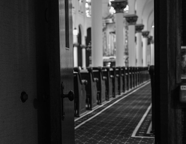 Blackandwhite Photography Catholic Church Close-up Confessional Day Fujifilm_xseries Indoors  No People Open Door Photographyisthemuse Place Of Worship Quiet Places Religious  Sanctuary  Spirituality The Way Forward