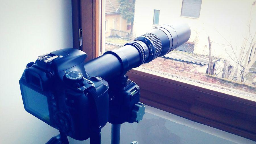 Telephoto Tele Telescope Bird Photography Photography Zoom DSLR Canon Beroflex 500 500mm F/8 STAND Photo