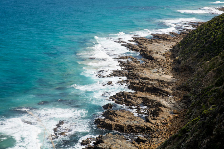 Australia, Great Ocean Road, Australia Nature Aquatic Sport Beach Beauty In Nature Breaking Day Land Motion Nature Outdoors Power In Nature Rock Rock - Object Scenics - Nature Sea Surfing Water Wave