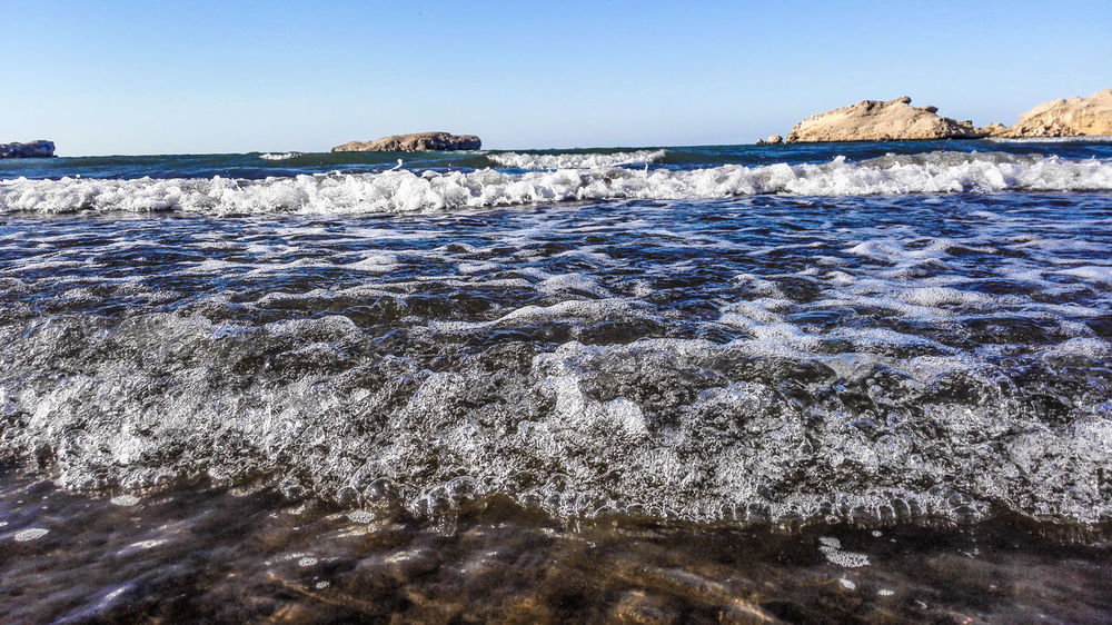 Beach Beach Photography Beach Time Waterflow Sea And Sky Close-up Stop Motion EyeEm Nature Lover Phone Photography Mobile Photography Huawei HuaweiMate7 EyeEm Vision عمان الشاطئ Muscat , Oman Waterscape Water Scenics Waterfront Waves Photooftheday Sawadi Beach